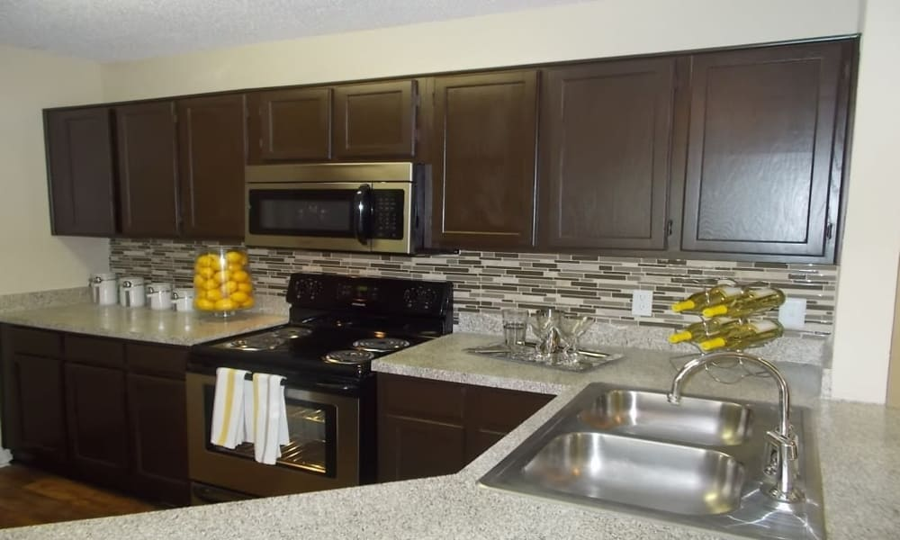 Luxury kitchen at Avalon Villas in Irving