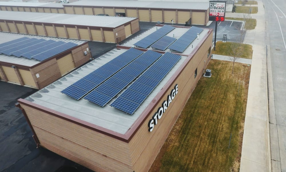 Our self storage facility features solar paneling