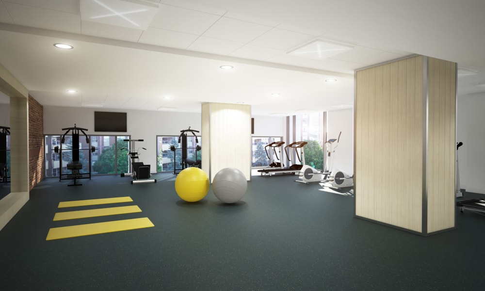 Fitness center at 19Twenty Apartments in Halifax, Nova Scotia