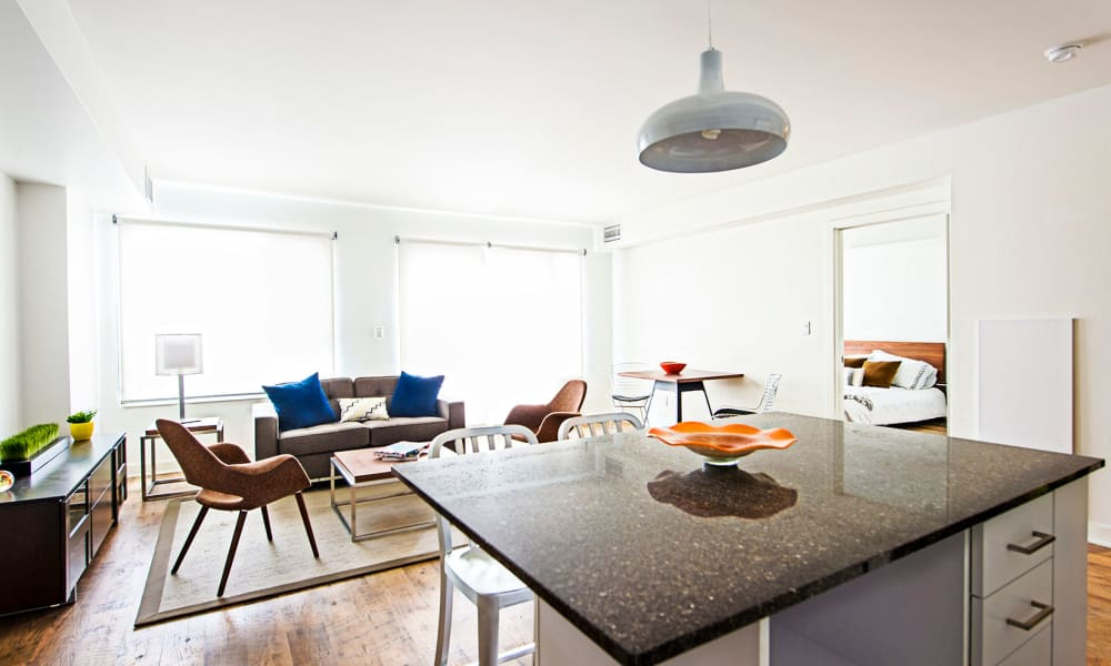 19Twenty Apartments offers a naturally well-lit living room in Halifax, Nova Scotia