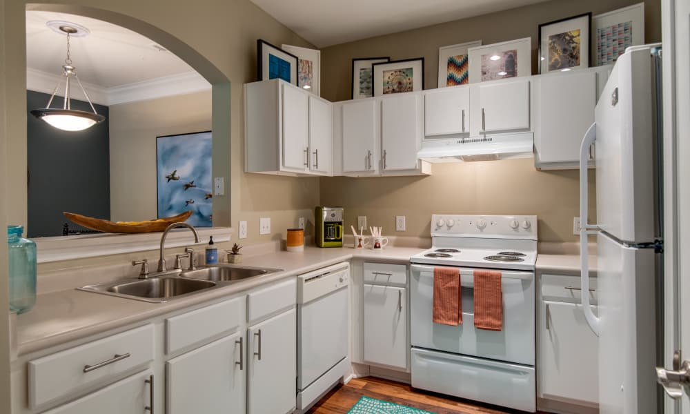 Fully equipped kitchen at Legacy at Meridian in Durham