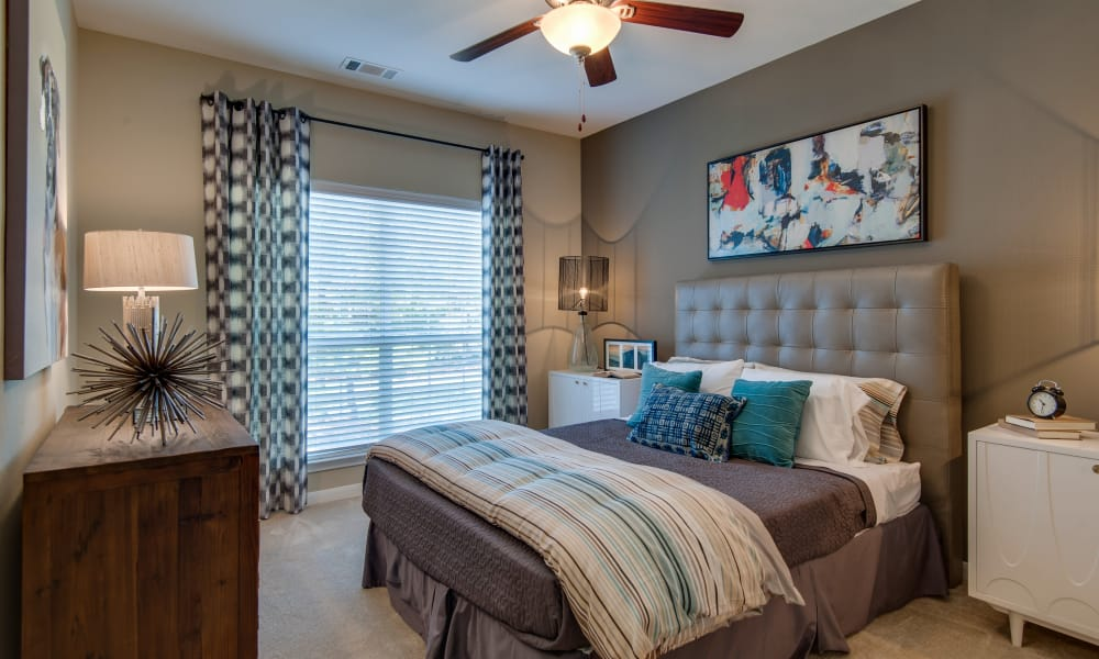 Well decorated bedroom at Legacy at Meridian