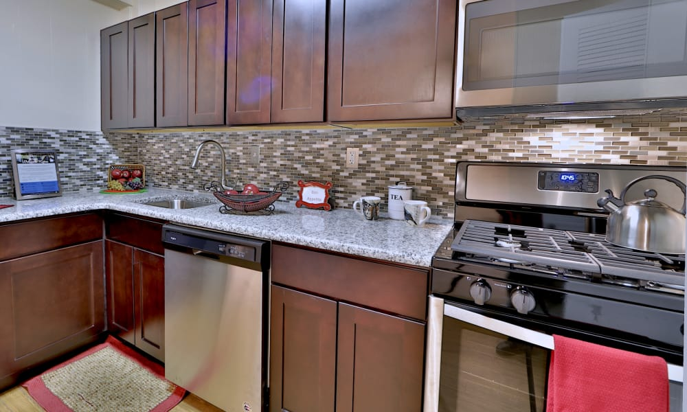 Modern kitchen at Westerlee Apartment Homes in Baltimore, MD