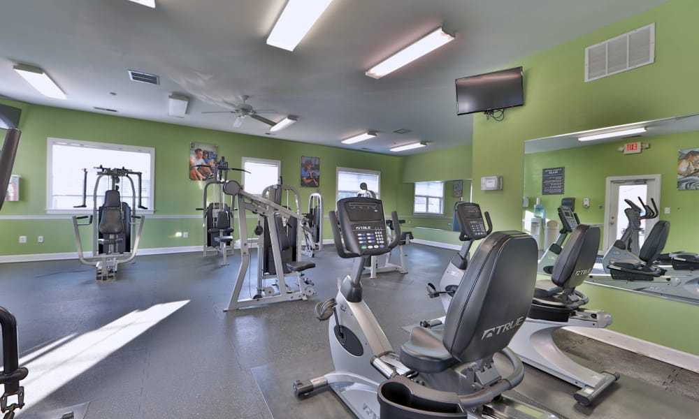 Fully equipped gym at Westerlee Apartment Homes
