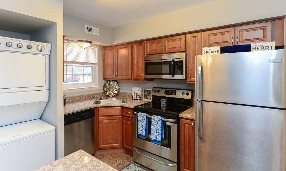 Large kitchen at Moorestowne Woods Apartment Homes