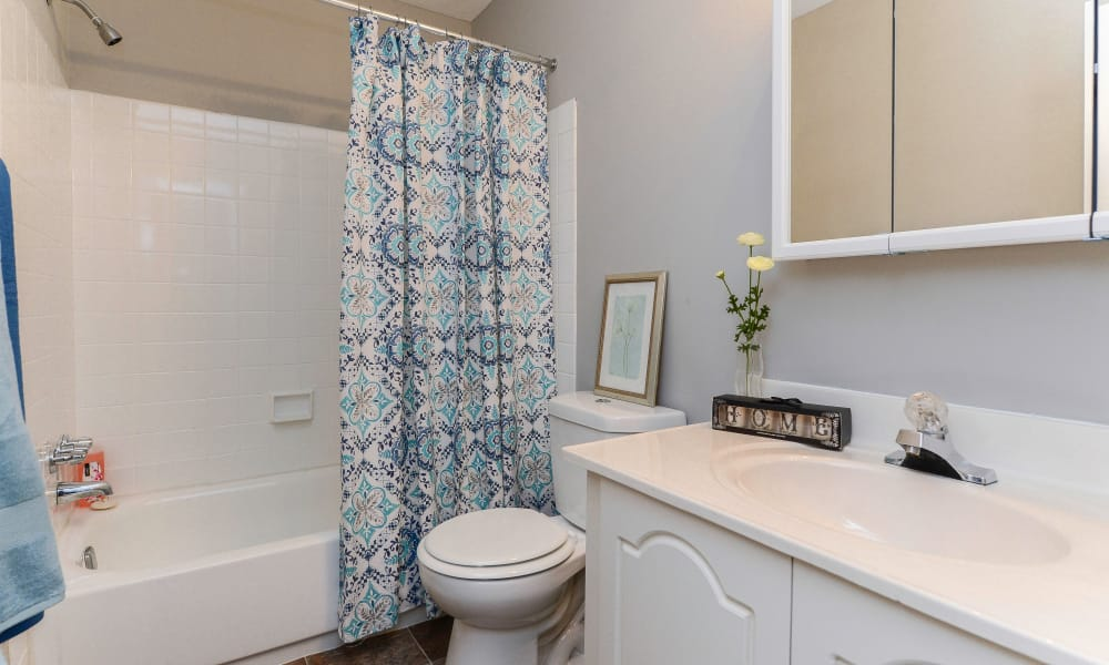 Large bathroom at Moorestowne Woods Apartment Homes