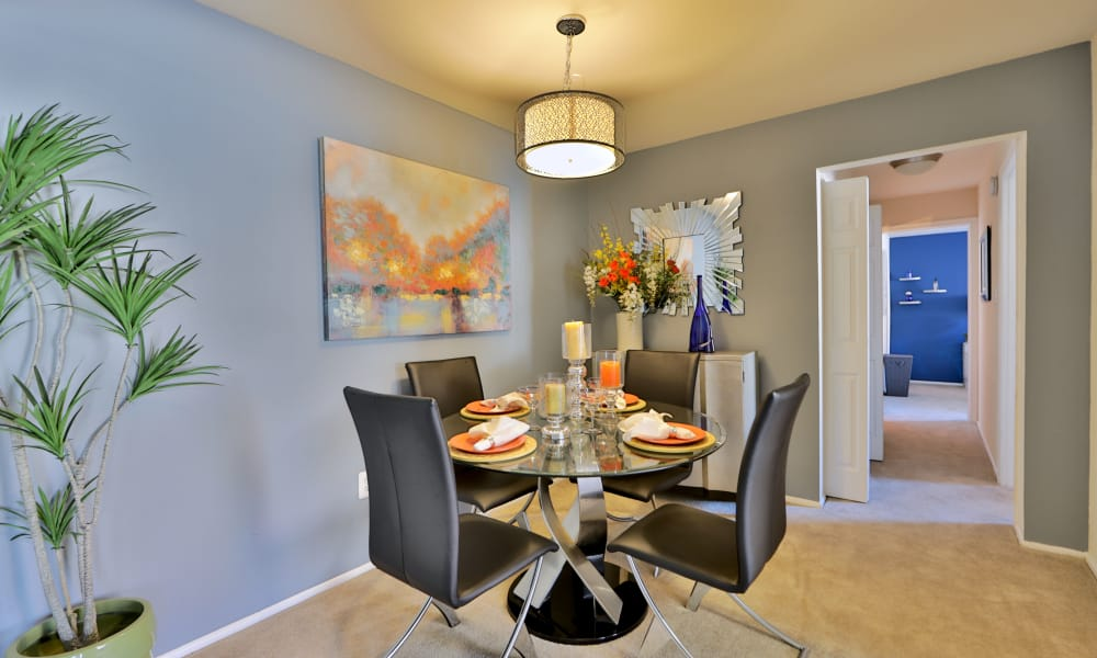 Spacious dining area at Avery Park Apartment Homes