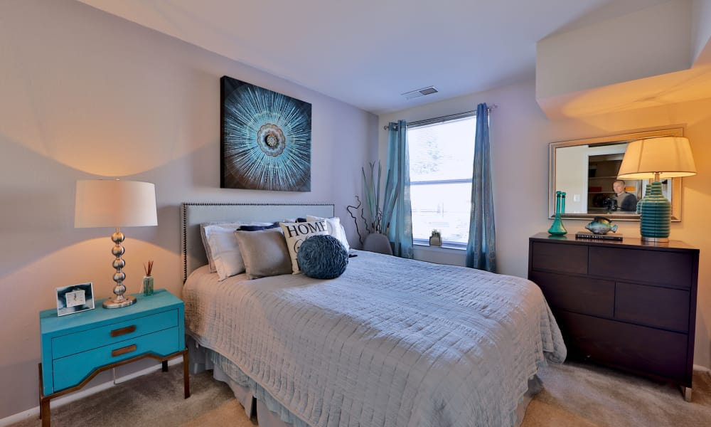 Enjoy a beautiful bedroom at Avery Park Apartment Homes