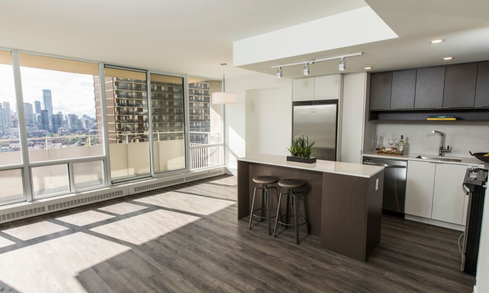 Beautiful apartment interior at Bretton Place in Toronto, Ontario