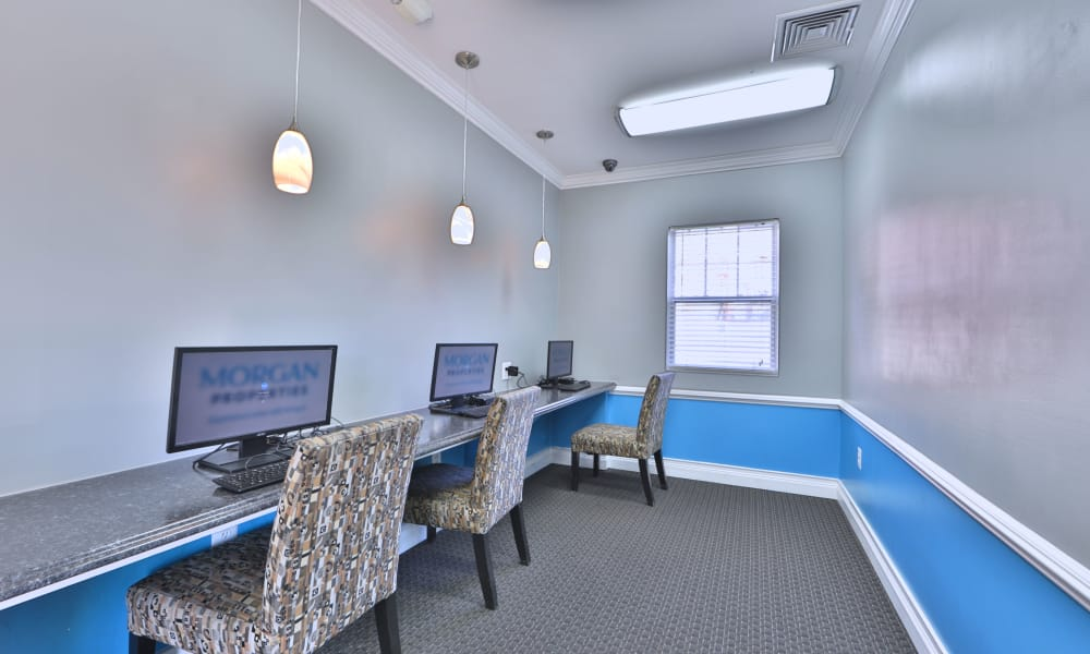 Media center at Avery Park Apartment Homes