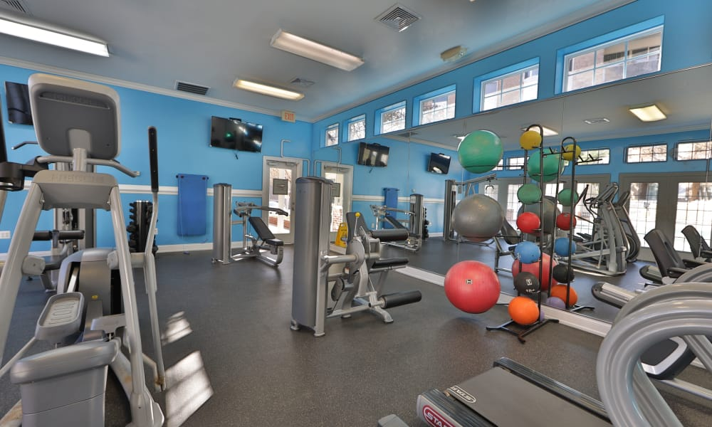 Fitness center at Avery Park Apartment Homes