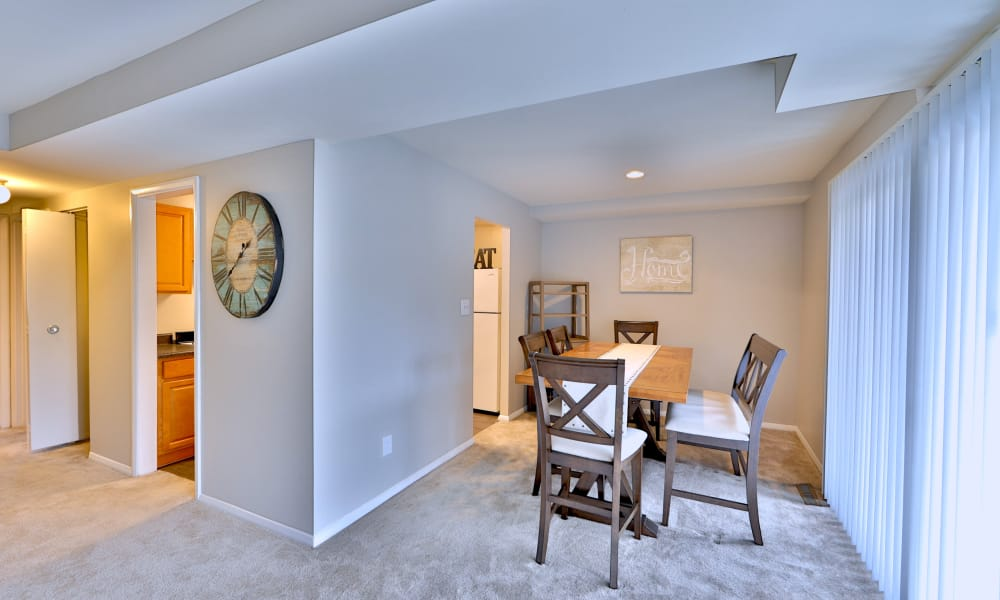 Dining room at The Village of Chartleytowne Apartments & Townhomes