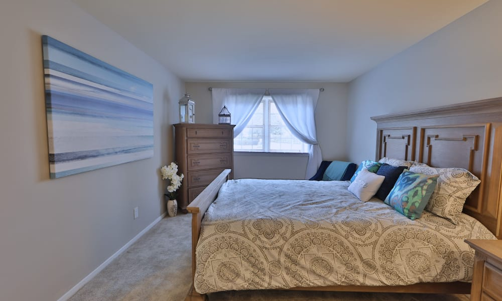 Master bedroom at The Village of Chartleytowne Apartment & Townhomes