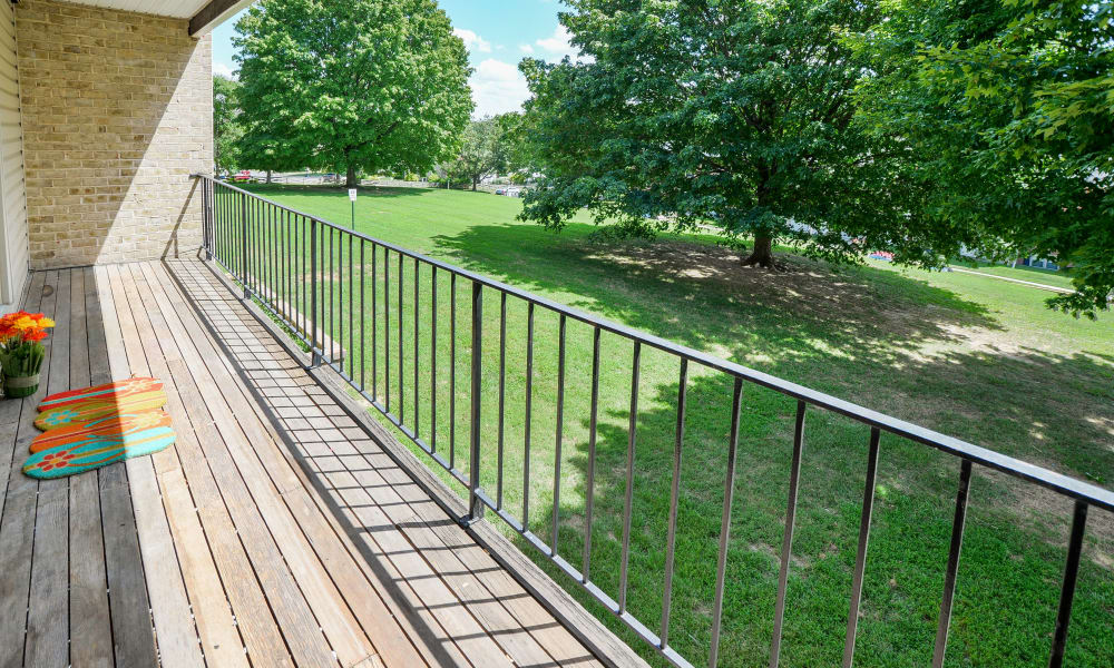 Deck at The Village of Chartleytowne Apartments & Townhomes