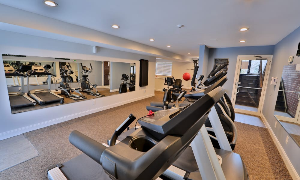 Stay healhty in the The Village of Chartleytowne Apartments & Townhomes fitness center