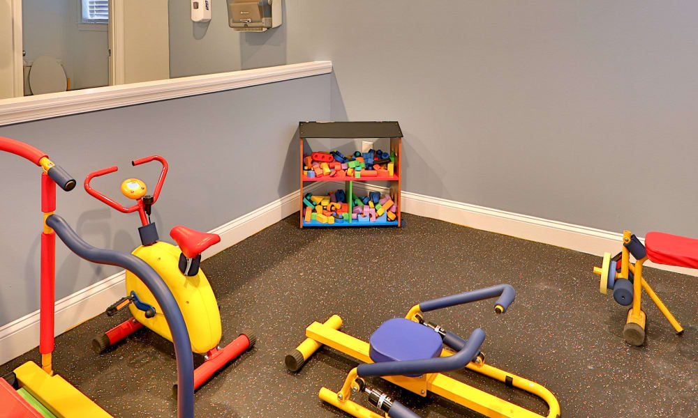 Fitness center for kids at The Village of Chartleytowne Apartments & Townhomes