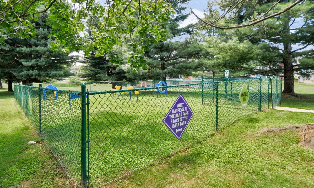Dog park at The Village of Chartleytowne Apartments & Townhomes