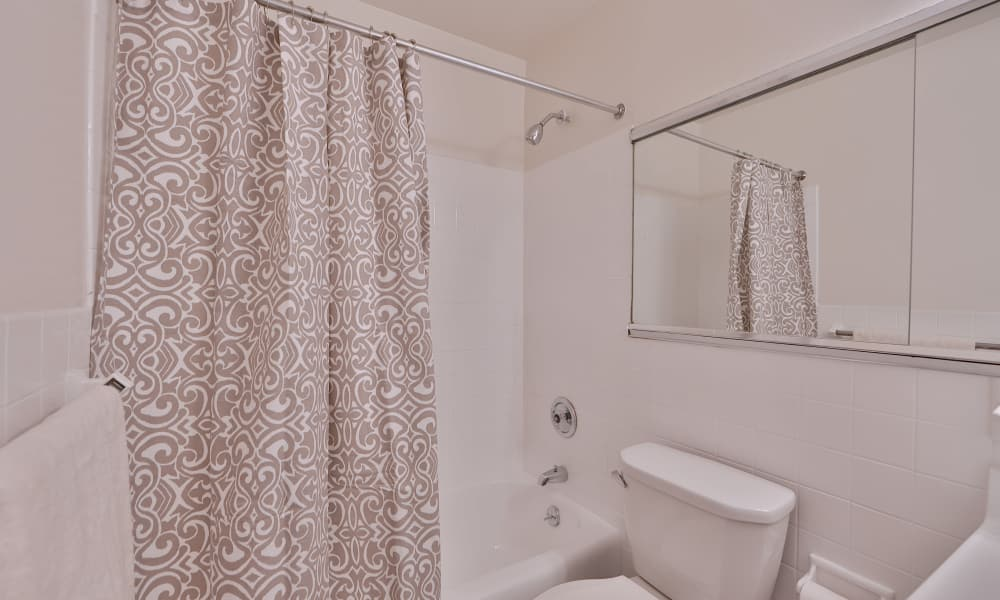 Bathroom at The Carlyle Apartments in Baltimore, Maryland