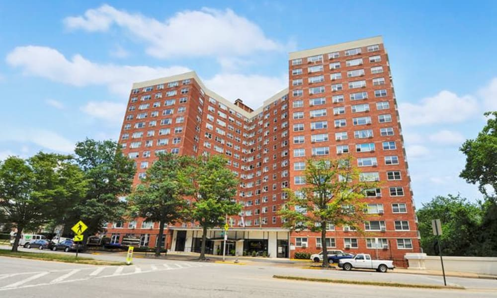 Apartment buildings at The Carlyle Apartments in Baltimore, Maryland