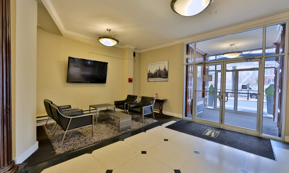 The Carlyle Apartments lobby in Baltimore