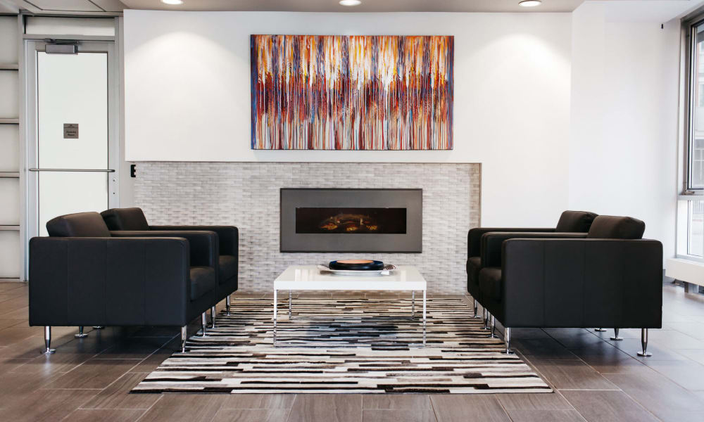 Model living room at Rouleau in Calgary