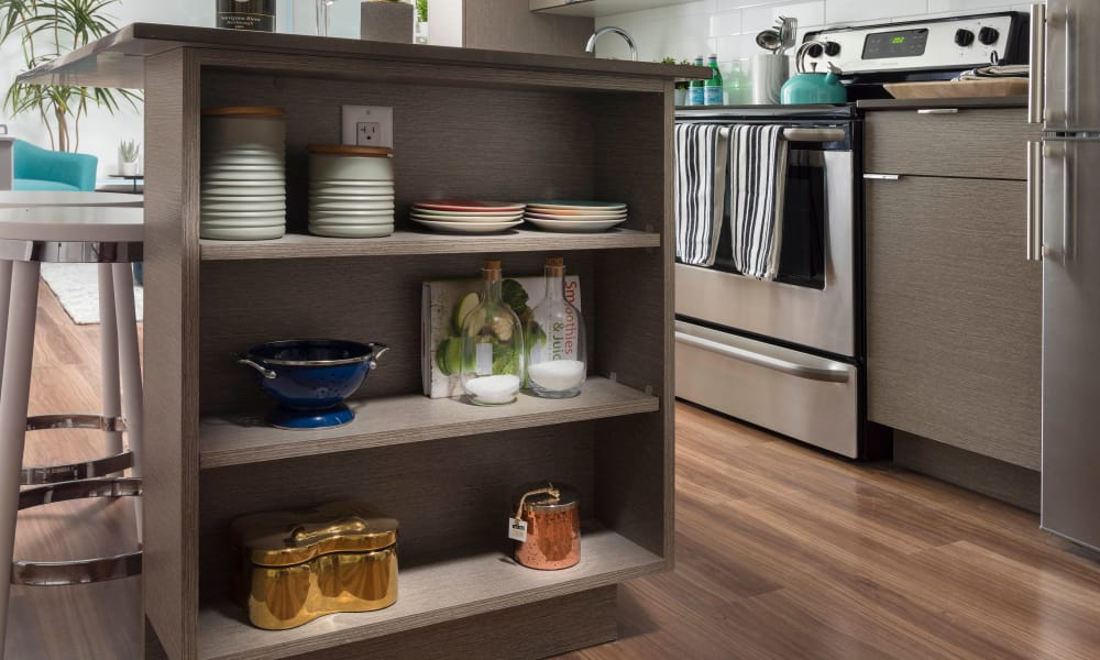 Kitchen storage at Fifteen15 in Calgary