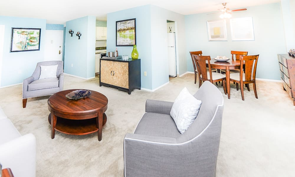 Beautiful apartment interior at Place One Apartment Homes in Plymouth Meeting, Pennsylvania