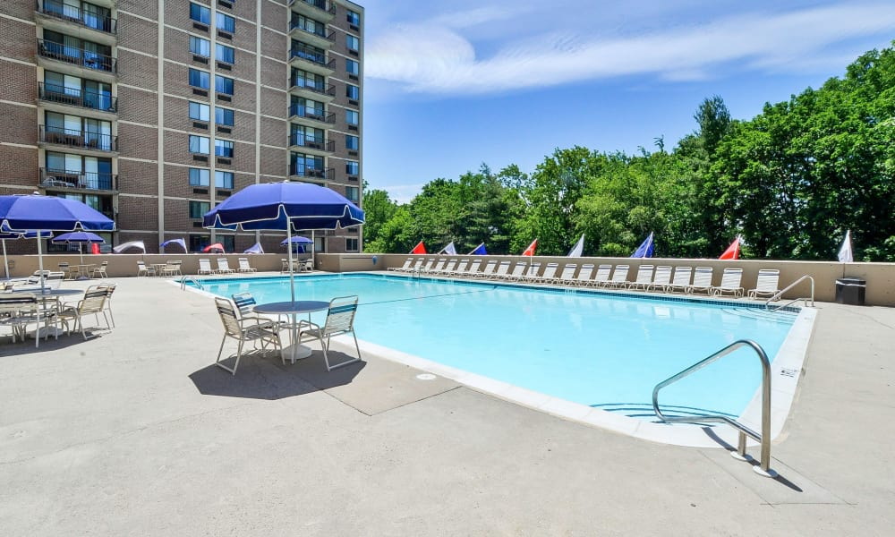 Place One Apartment Homes offers a swimming pool in Plymouth Meeting, Pennsylvania