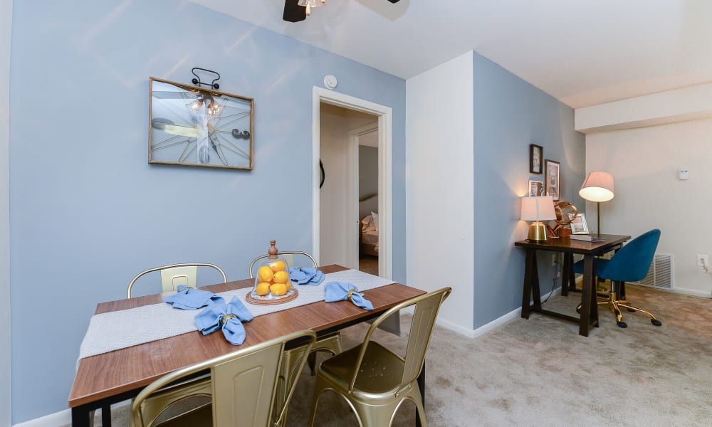 Dining table at Country Village Apartment Homes in Dover, Delaware