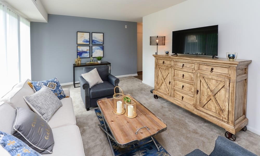 Living room at Country Village Apartment Homes in Dover, Delaware