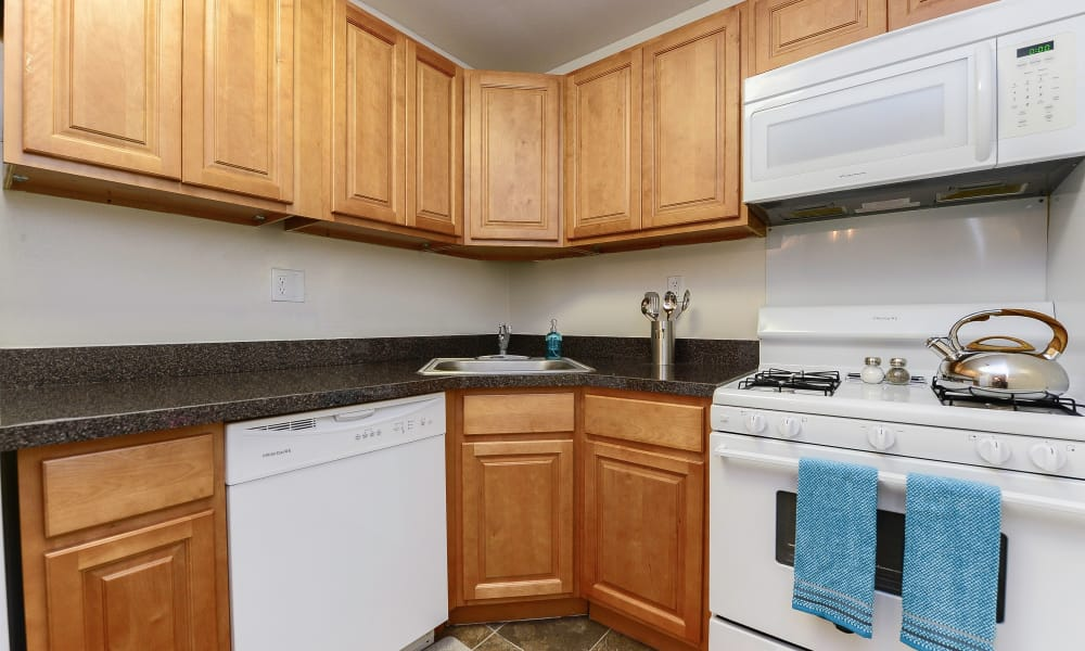 Country Village Apartment Homes offers a fully equipped kitchen in Dover, Delaware