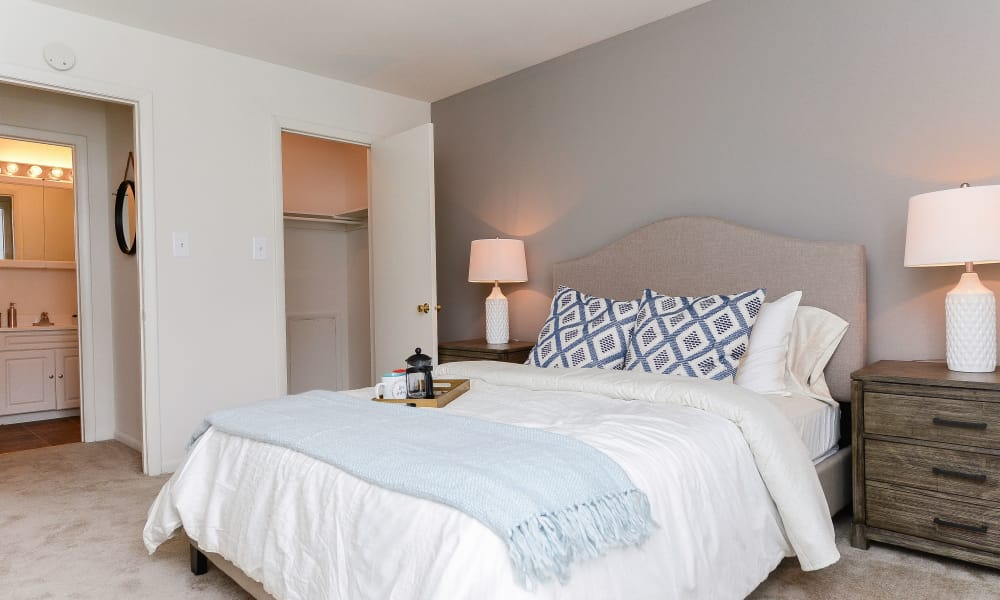 Country Village Apartment Homes offers a modern bedroom in Dover, Delaware