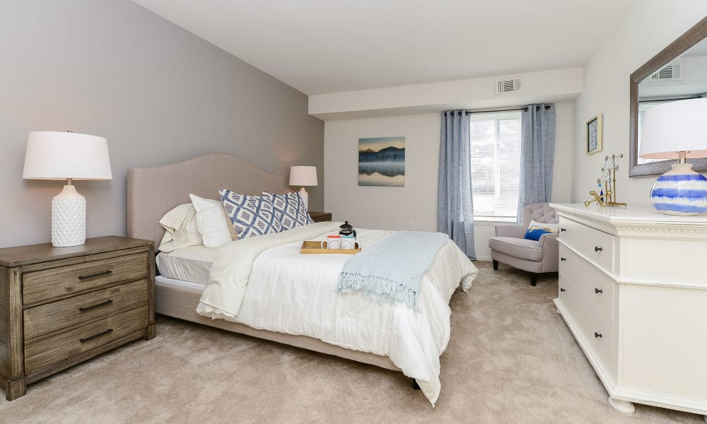 Our apartments in Dover, Delaware showcase a modern bedroom