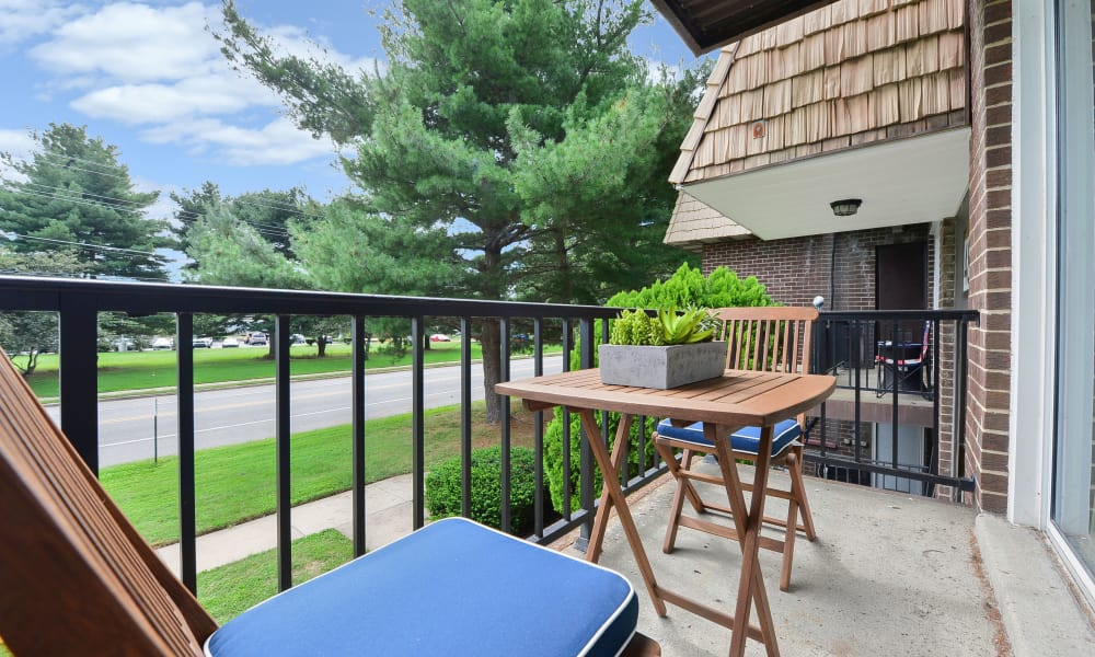 Balcony at Country Village Apartment Homes in Dover, Delaware
