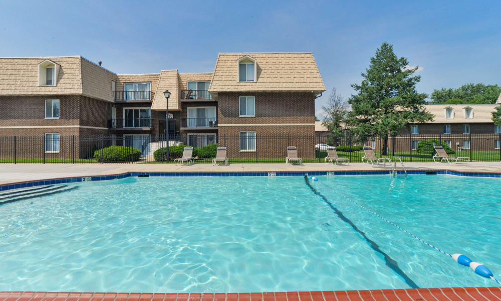 Country Village Apartment Homes offers a swimming pool in Dover, Delaware