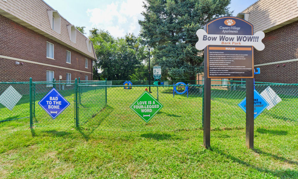 Dog park at Country Village Apartment Homes in Dover, Delaware