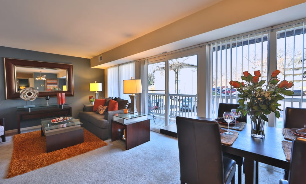 Briarwood Place Apartment Homes offers a naturally apartment interior in Laurel, Maryland