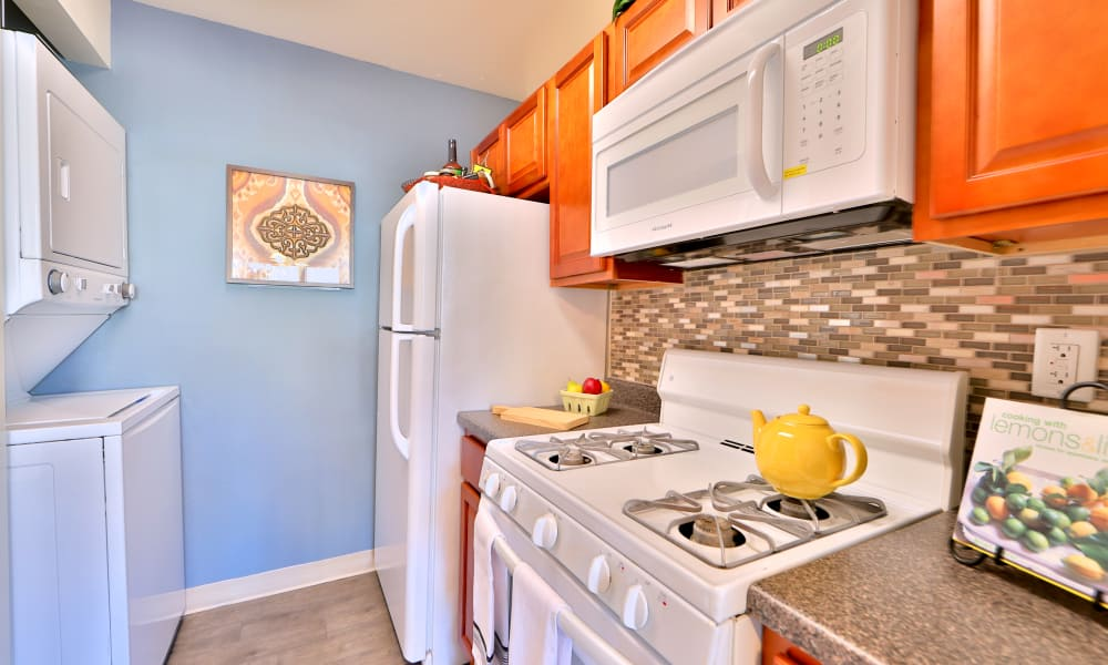 Kitchen at Briarwood Place Apartment Homes in Laurel, Maryland