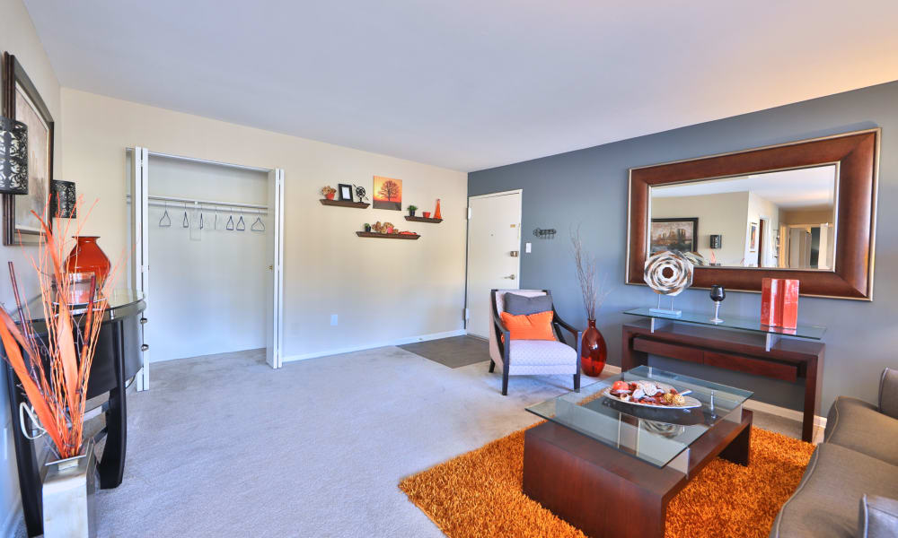 Our apartments in Laurel, Maryland showcase a spacious living room