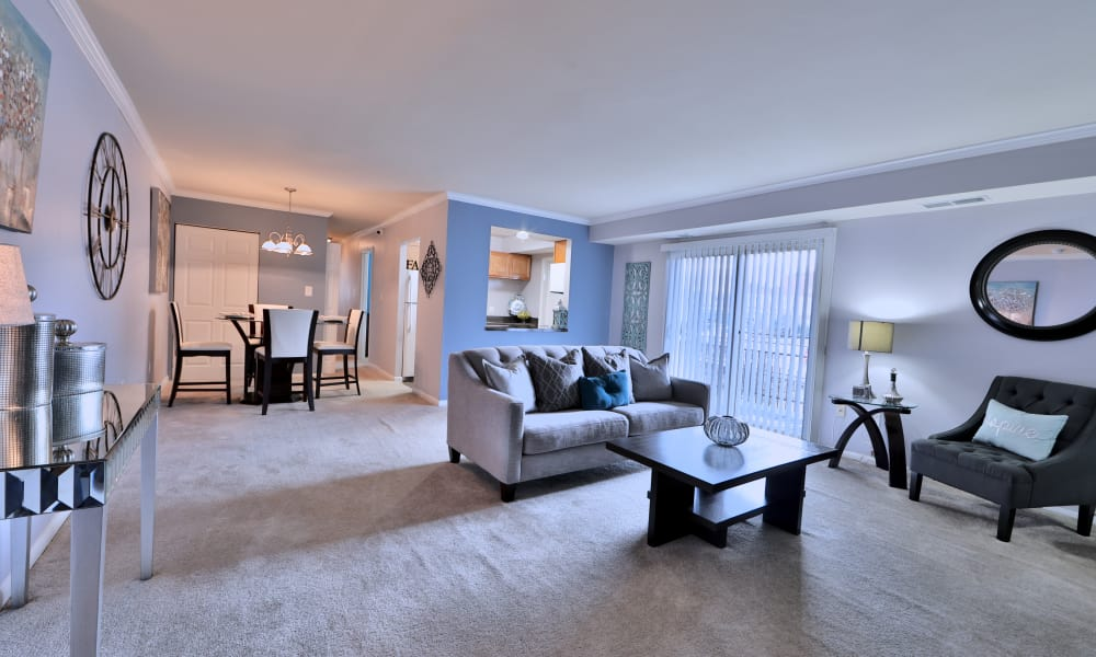 Our apartments in Randallstown, Maryland showcase a spacious living room