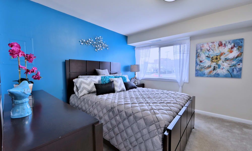 Northwest Crossing Apartment Homes offers a beautiful bedroom in Randallstown, Maryland