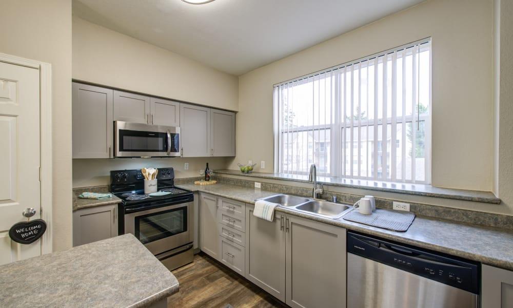 grey renovated kitchen