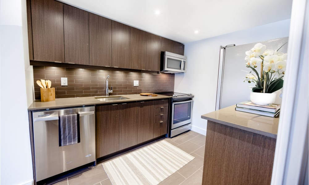 Our apartments in North York, Ontario showcase a renovated kitchen