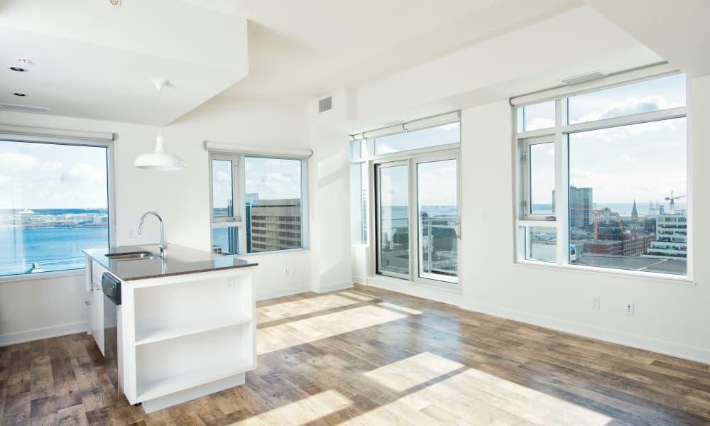 Large windows at 19Twenty Apartments in Halifax