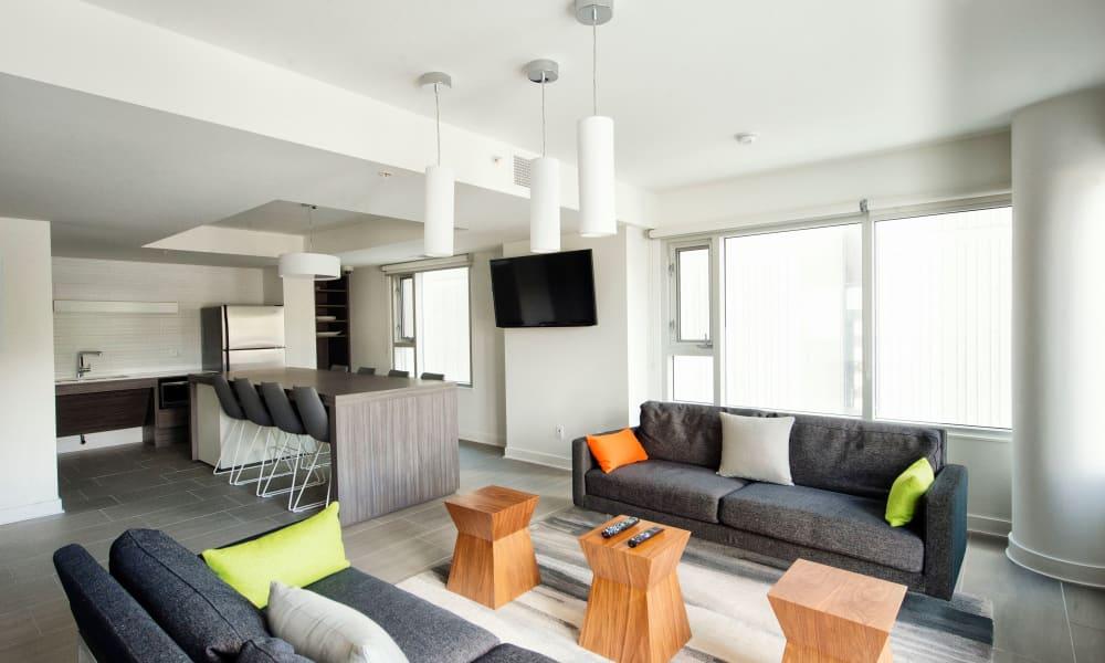 Lobby area at 19Twenty Apartments in Halifax