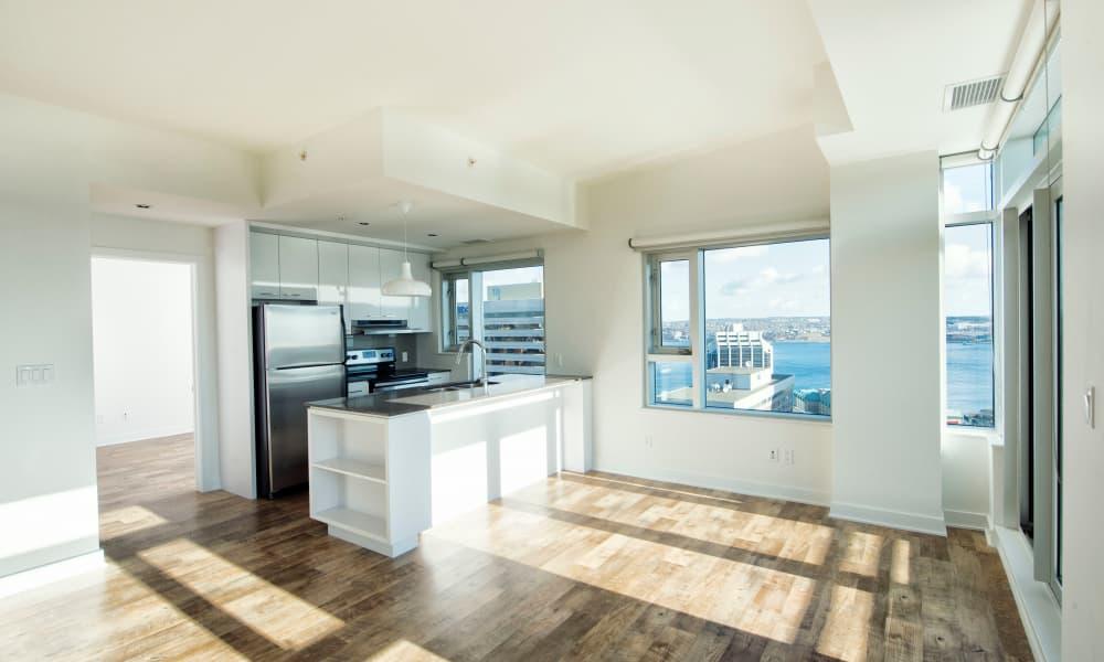 Hardwood floors at 19Twenty Apartments in Halifax