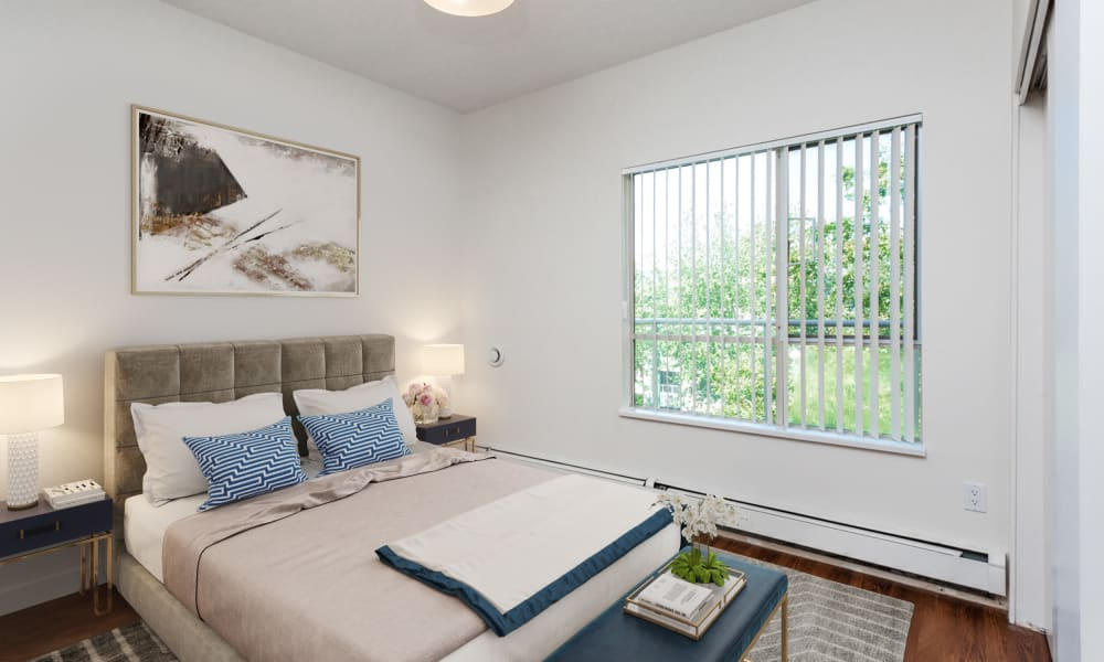 Dunway Court offers a naturally well-lit bedroom in Vancouver, British Columbia