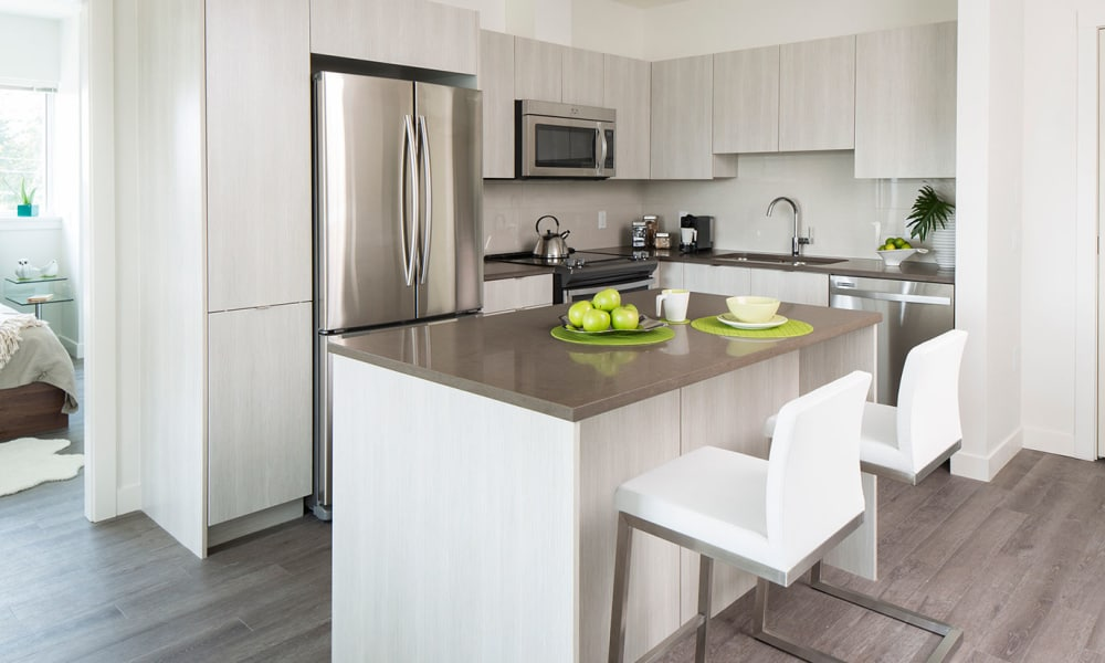 Northwoods Village offers a fully equipped kitchen in North Vancouver, British Columbia