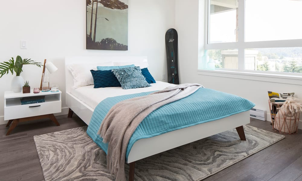 Northwoods Village offers a beautiful bedroom in North Vancouver, British Columbia