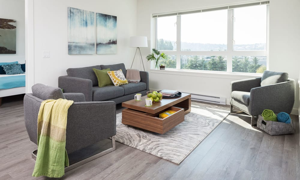 Northwoods Village offers a living room in North Vancouver, British Columbia